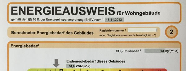Teil vom Energieausweis