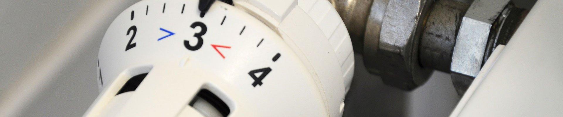 Thermostat an der Heizung
