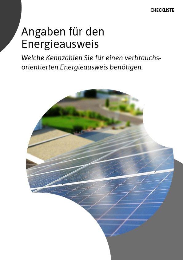 Checkliste für Angaben des Energieausweises