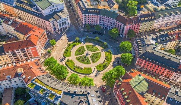Der Gärtnerplatz in München